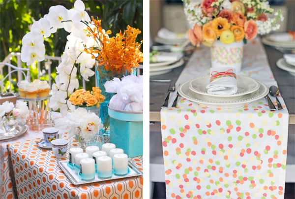 Whether you create a table runner with your kid's fingerprints or incorporate fresh flowers, it's hard to go wrong with a good Mother's Day tablescape.