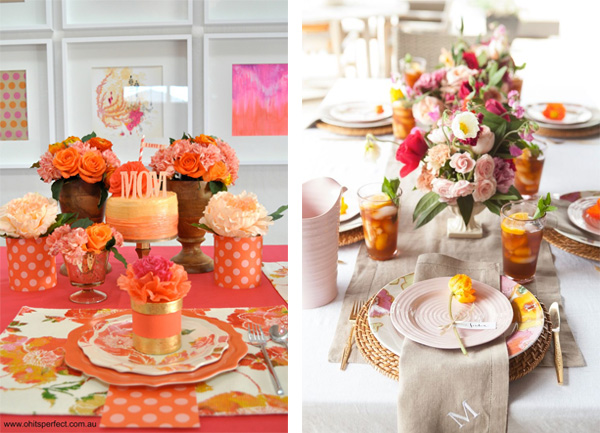 Consider choosing a color scheme for your Mother's Day tablescape.