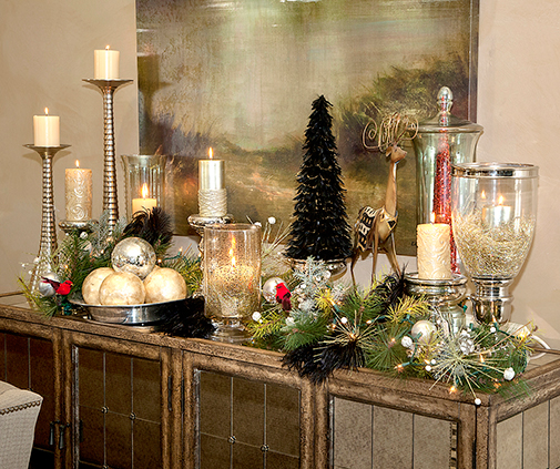 Store 7 Mantel Christmas Setting