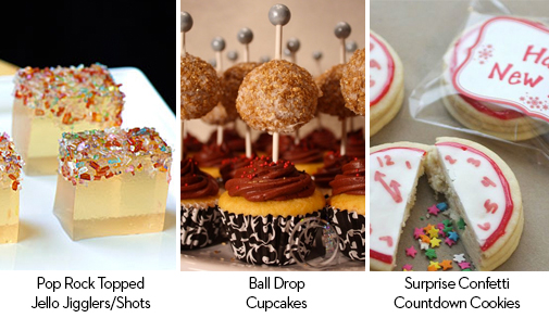 New Year's Inpsired Desserts