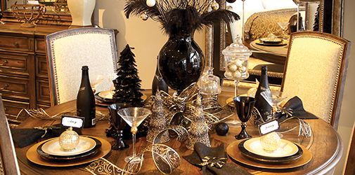 Store 2 Table Holiday Setting