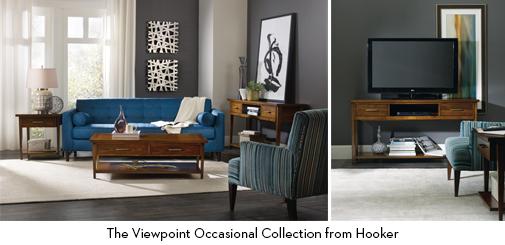 Blue Living Room Hooker