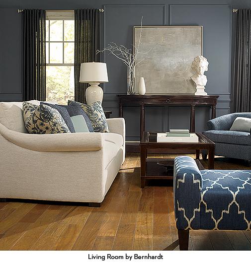 Blue Bernhardt LIving Room