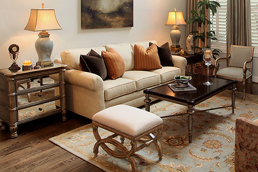 Mixed Metals Living Room Decor