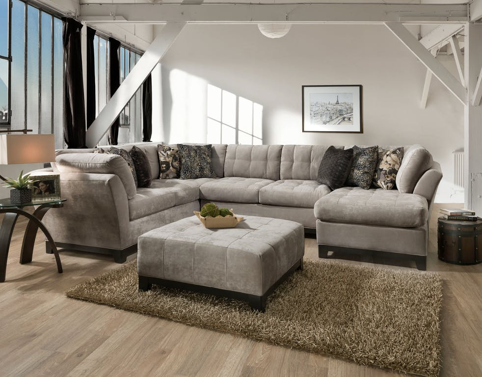 Gotham Gray Sectional Couch