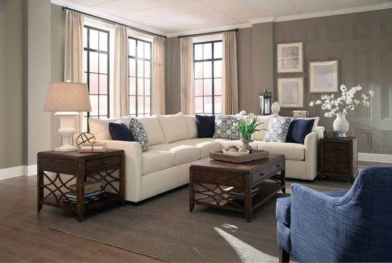Trisha Yearwood White Sectional Sofa
