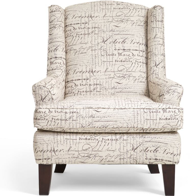 White Accent Wingback Chair