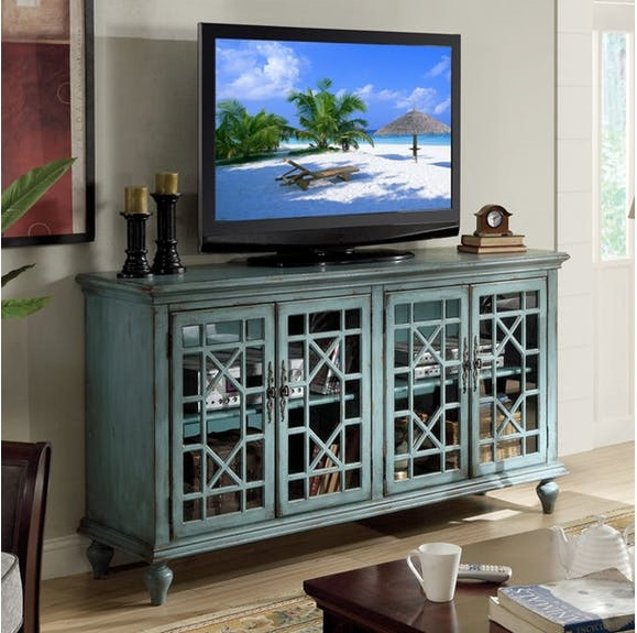 Blue TV Stand