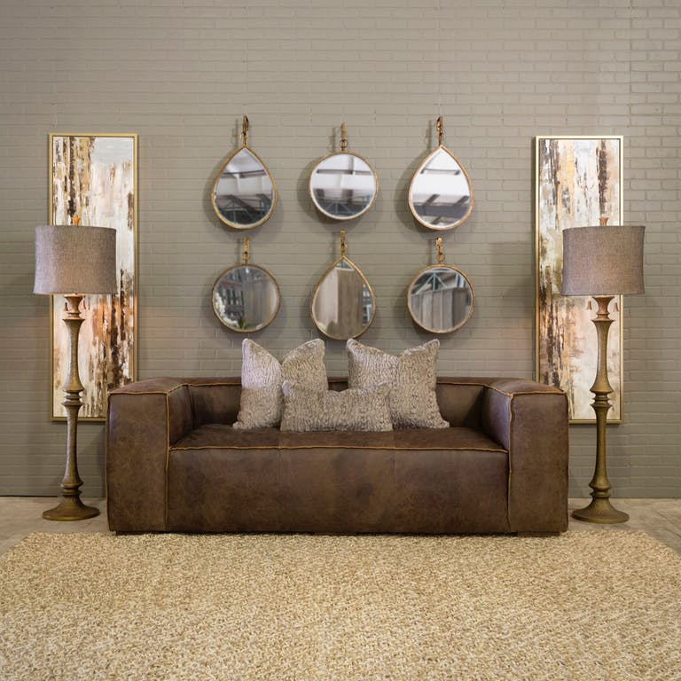 Mixed Metals Living Room Interior Decor