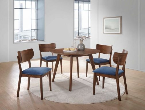 Marlene 5-Piece Velvet Dining Set