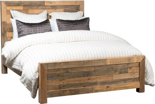 Reclaimed Pine Panel Bed