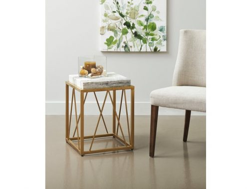 Burke Geometric Accent Table